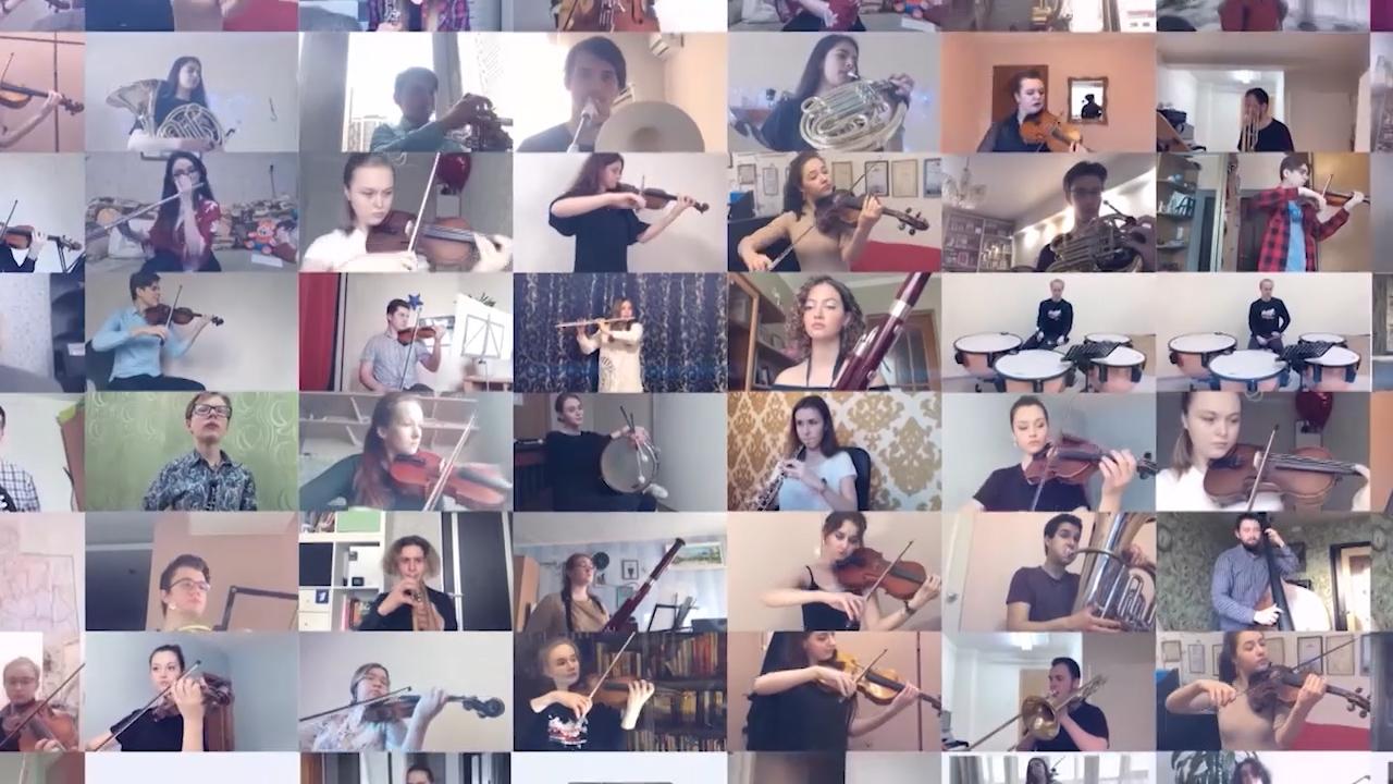 Около тысячи музыкантов исполнили «День Победы»  под руководством Юрия Башмета